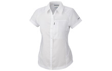 Columbia Women&#039;s Silver Ridge Short Sleeve Shirt white